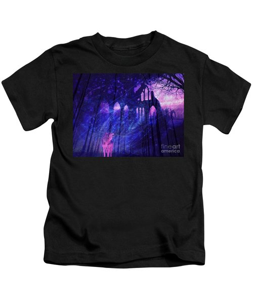 Wolf And Magic Kids T-Shirt
