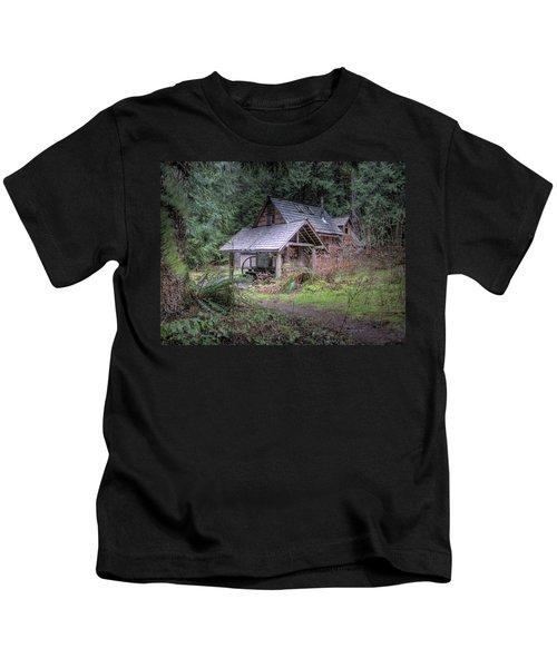 Rustic Cabin Kids T-Shirt