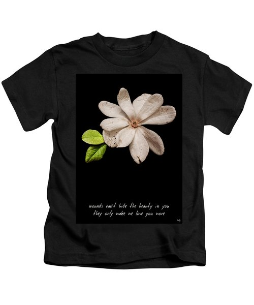 Wounds Cannot Hide The Beauty In You Kids T-Shirt
