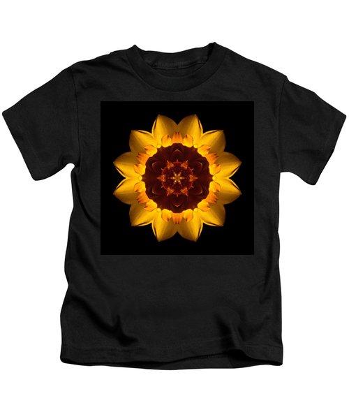 Yellow Daffodil I Flower Mandala Kids T-Shirt