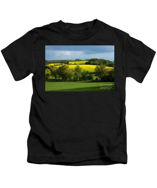 Yellow Fields In The Sun Kids T-Shirt