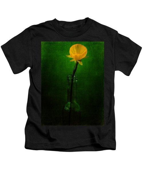 Yellow Flower In A Bottle I Kids T-Shirt