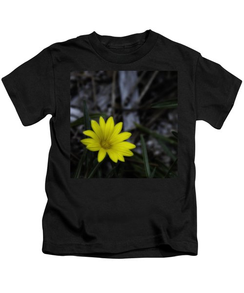 Yellow Flower Soft Focus Kids T-Shirt