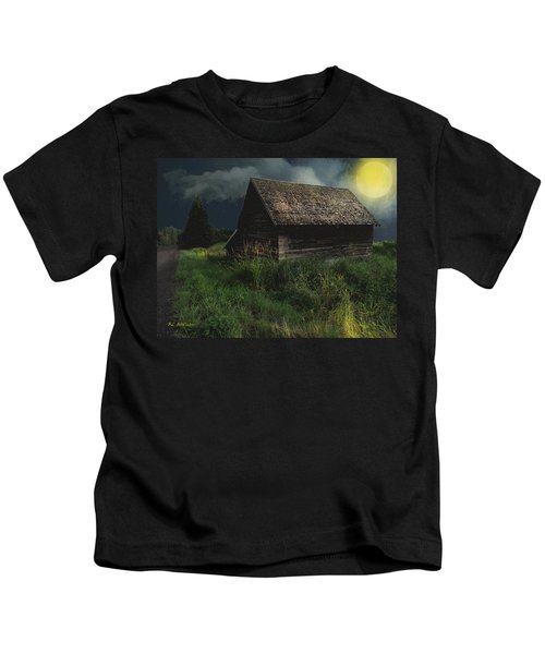 Yellow Moon On The Rise Kids T-Shirt