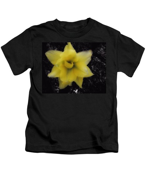Yellow Parrot Tulip Kids T-Shirt