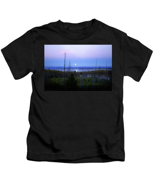Yellowstone Moon Kids T-Shirt