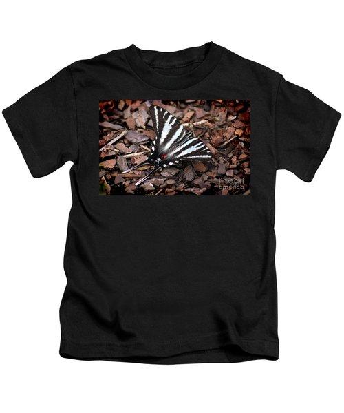 Zebra Swallowtail Butterfly Kids T-Shirt