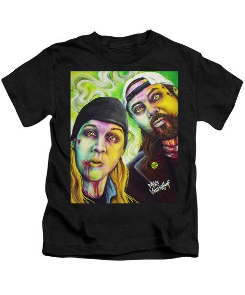 Zombie Jay And Silent Bob Kids T-Shirt