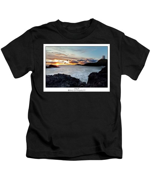 Llanddwyn Island Sunset Kids T-Shirt