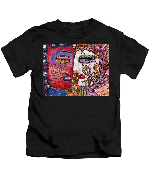 Angel And Devil Lovers Kids T-Shirt