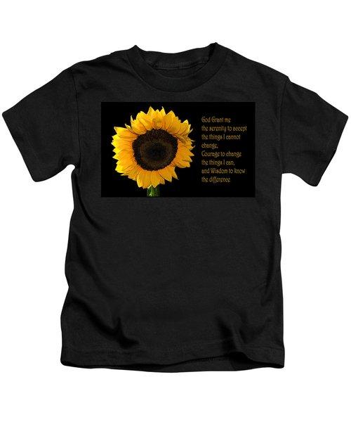 Serenity Prayer Kids T-Shirt