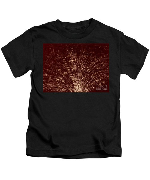 Cosmic Ray Particle Tracks Kids T-Shirt