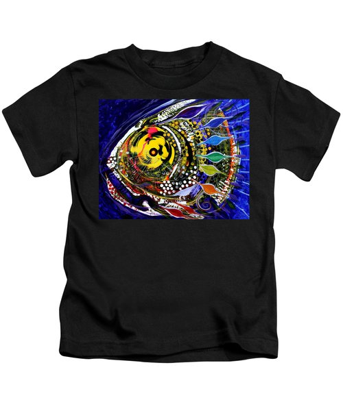 Abstract Busy Bee Fish Kids T-Shirt