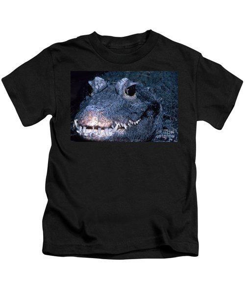 African Dwarf Crocodile Kids T-Shirt by Dante Fenolio
