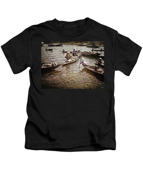 Afternoon On The River Kids T-Shirt