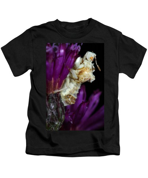 Ambush Bug On Ironweed Kids T-Shirt