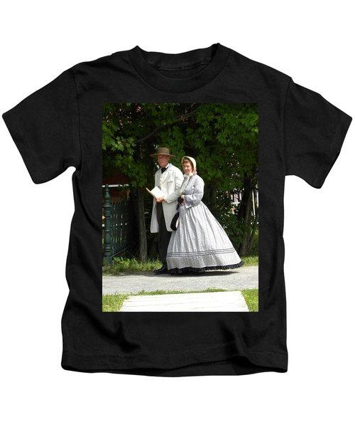 An Afternoon Stroll Kids T-Shirt