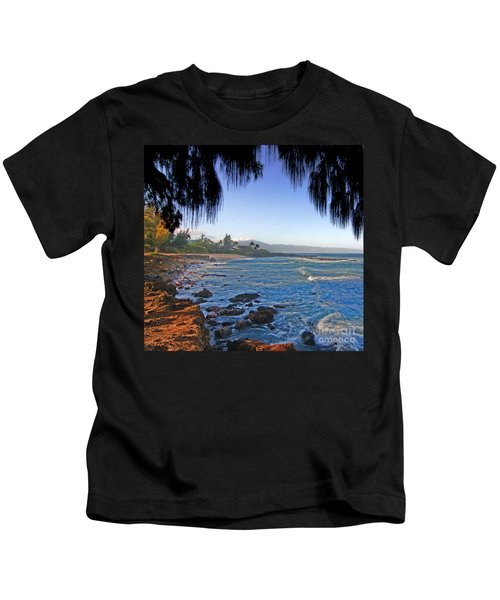 Beach On North Shore Of Oahu Kids T-Shirt