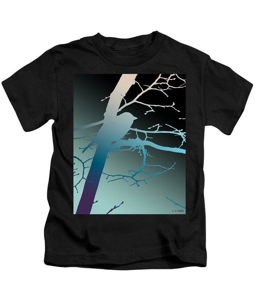 Bird At Twilight Kids T-Shirt