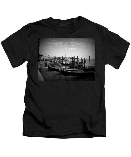 Black And White Gondolas Kids T-Shirt