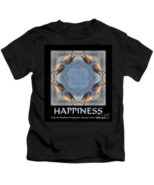 Bluebird Kaleidoscope Happiness Kids T-Shirt