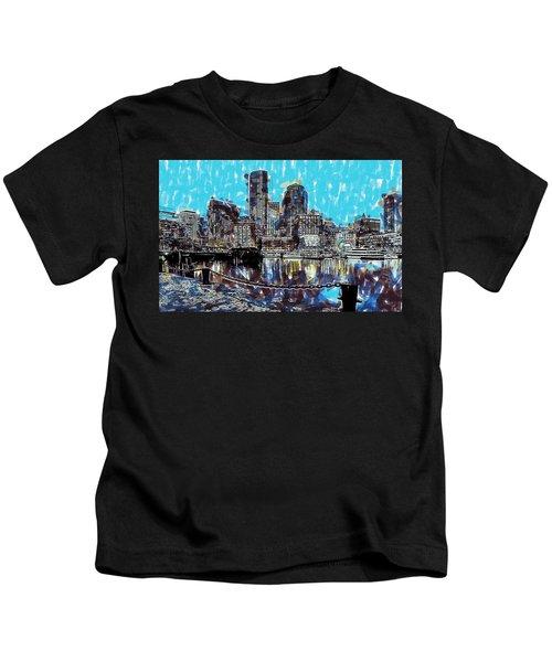 Boston Skyline Kids T-Shirt