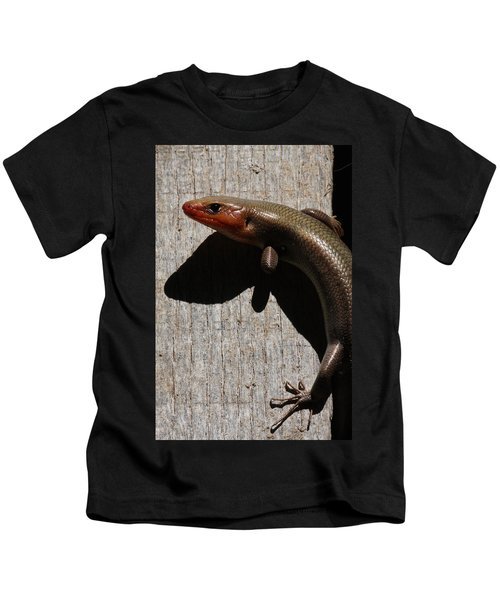 Broad-headed Skink On Barn  Kids T-Shirt