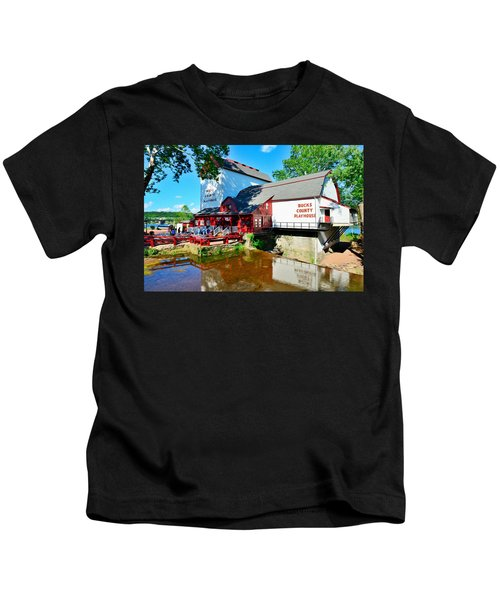 Kids T-Shirt featuring the photograph Bucks County Playhouse by William Jobes
