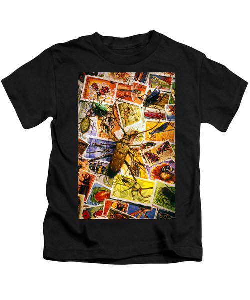 Bugs On Postage Stamps Kids T-Shirt