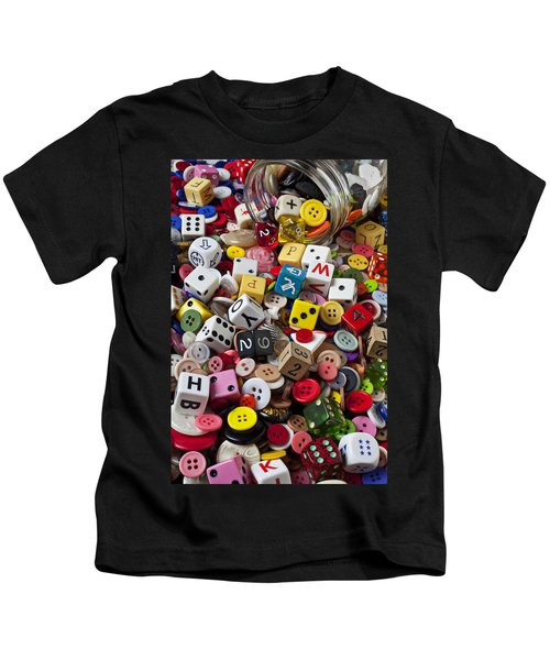 Buttons And Dice Kids T-Shirt