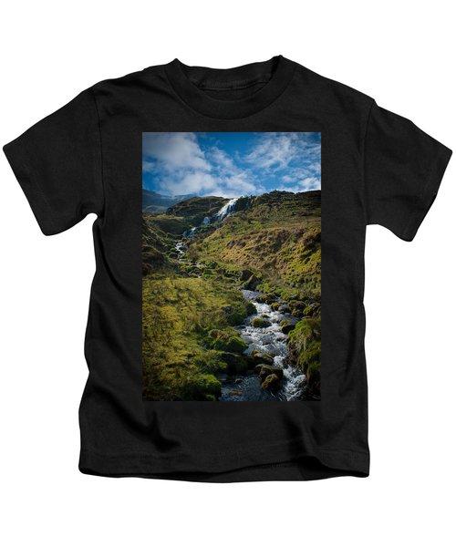 Calmness At The Falls Kids T-Shirt