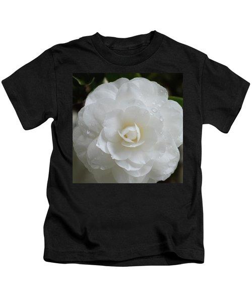Camellia After Rain Storm Kids T-Shirt