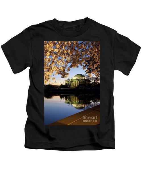 Cherry Blossoms At Dawn Kids T-Shirt