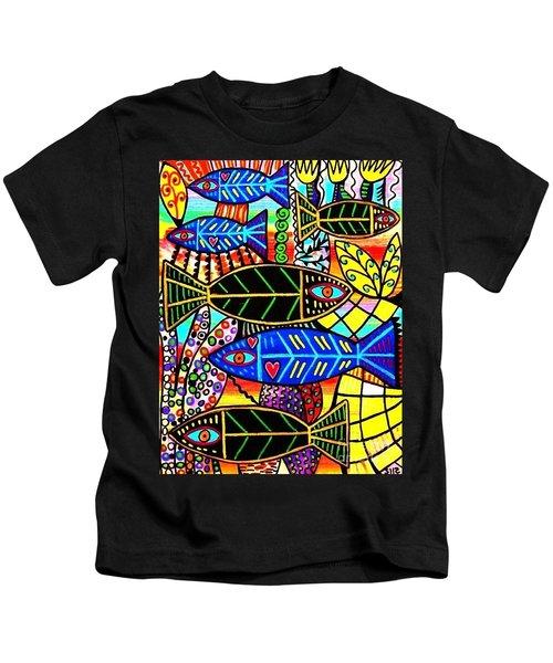 Citrine Coral Fish Kids T-Shirt