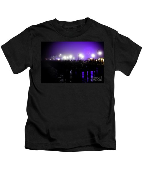 Cool Night At Santa Monica Pier Kids T-Shirt