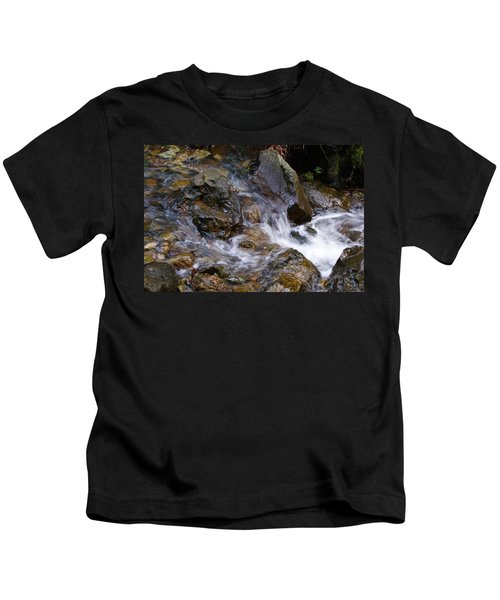 Creek Scene On Mt Tamalpais Kids T-Shirt