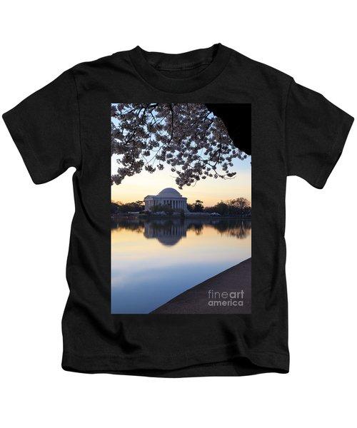 Dawn Over Jefferson Memorial Kids T-Shirt