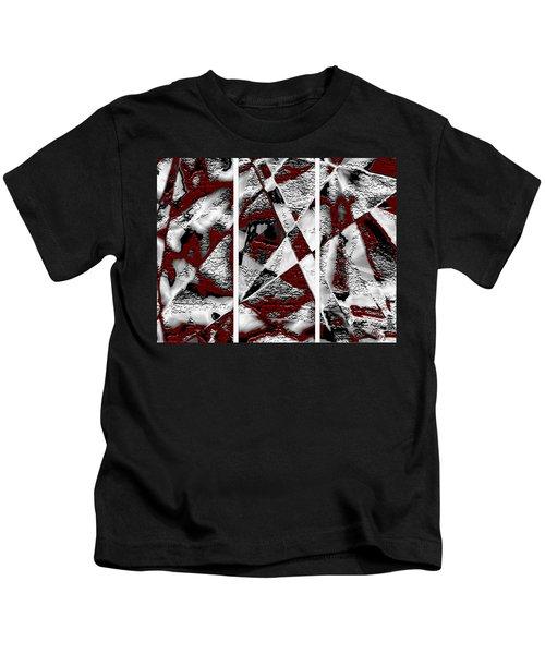 Dramatique Red Triptych Kids T-Shirt