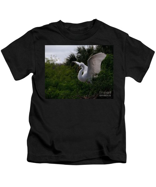 Egret Wings Kids T-Shirt