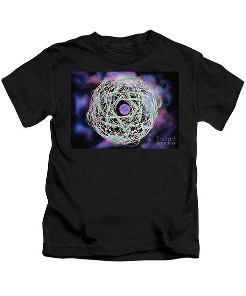 Electrons Orbiting Atom Kids T-Shirt