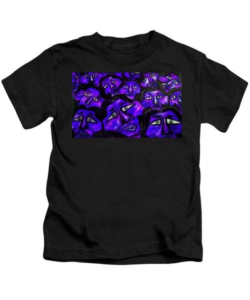 Faces - Blue Kids T-Shirt