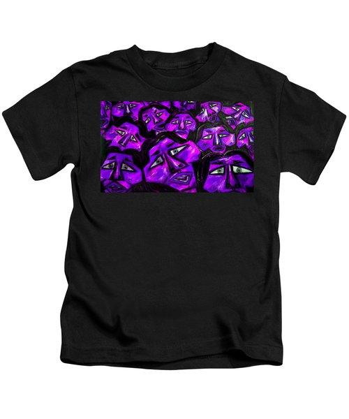 Faces - Purple Kids T-Shirt