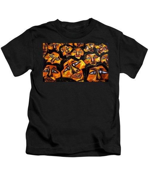 Faces Yellow Kids T-Shirt