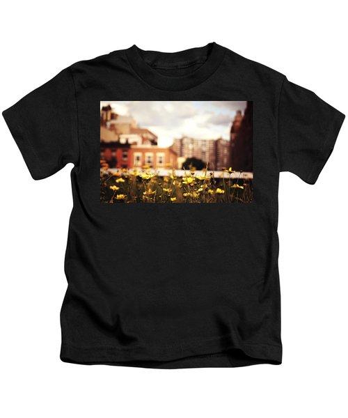 Flowers - High Line Park - New York City Kids T-Shirt by Vivienne Gucwa