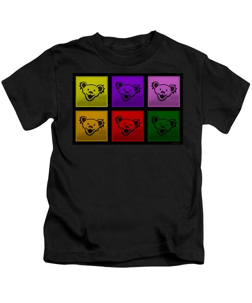 Greatful Dead Dancing Bears In Multi Colors Kids T-Shirt