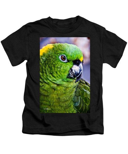 Green Parrot Kids T-Shirt