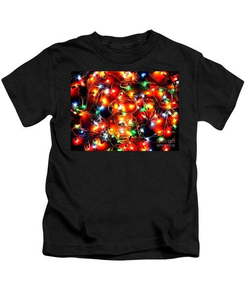 Greeting Card Christmas Color Lights Kids T-Shirt