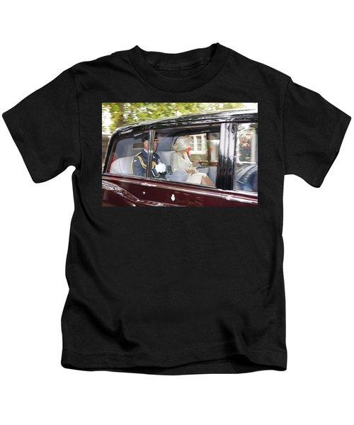 Hrh Prince Charles And Camilla Kids T-Shirt