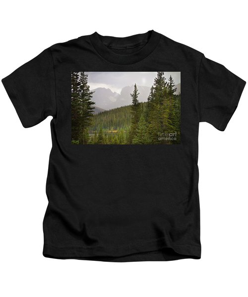 Indian Peaks Colorado Rocky Mountain Rainy View Kids T-Shirt