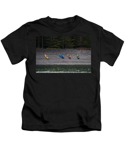 Kayak Shore Kids T-Shirt